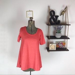 LuLaRoe Solid Coral Perfect T